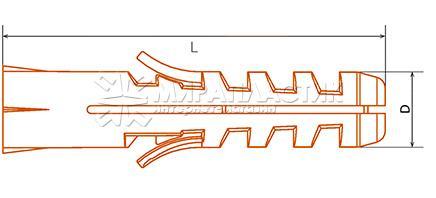 Дюбель полипропиленовый распорный (тип S)